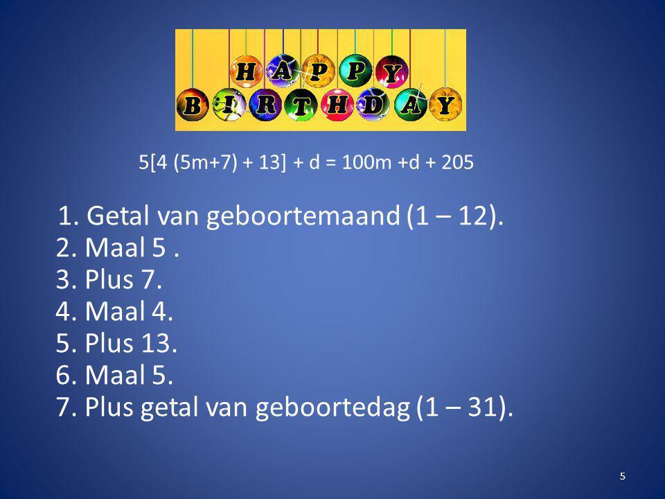 5[4 (5m+7) + 13] + d = 100m +d + 205